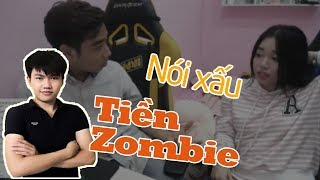 linh ngoc dam noi xau tien zoombie - anh em thich tien zombie livestream cung tuan tien ti vao share