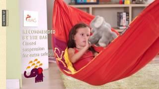 La Siesta Animundo - Padded Hammock For Children Made Of Organic Cotton