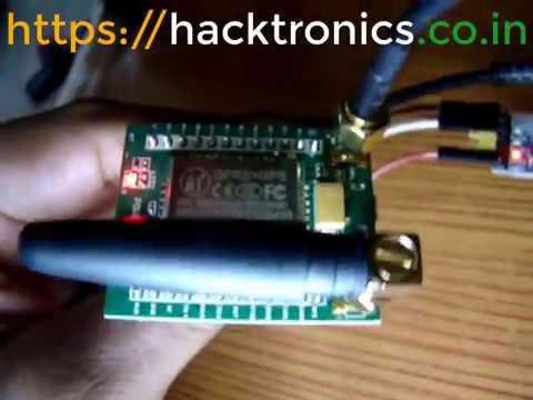 A7 GPS Module Demo using external GPS Antenna