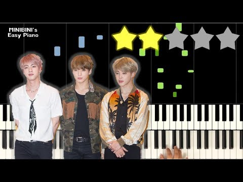 BTS (방탄소년단) - Dream Glow (BTS World OST Pt.1) Feat. Charli XCX 《MINIBINI EASY PIANO ♪》 ★★☆☆☆ [Sheet]