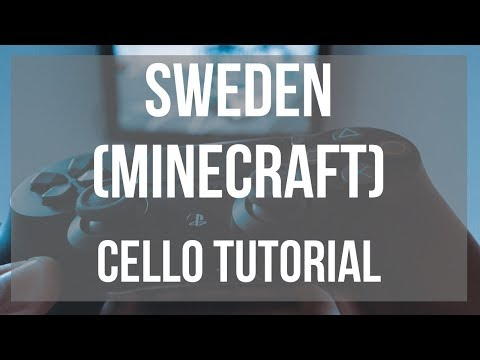How to play Sweden (Minecraft) by C418 on Cello (Tutorial)