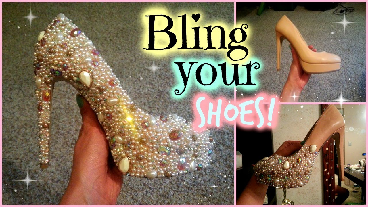 Bling Your Shoes Swarovski Crystal Amp Pearl DIY Cinderella