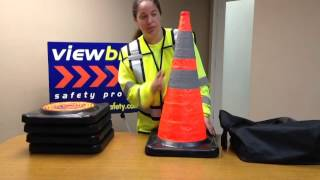 """Pro Series 28"""" Lighted Collapsible Traffic Cones"""