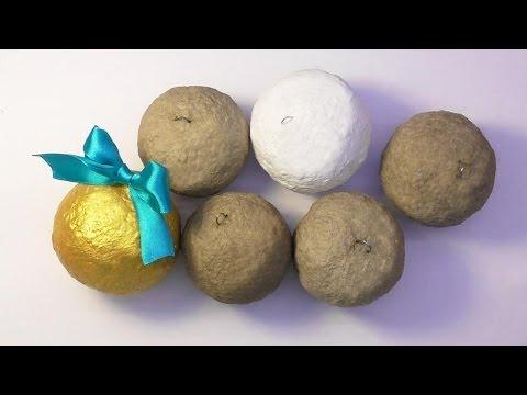 DIY Как сделать основу для ёлочных шаров папье маше . Мастер класс. Basis for Christmas-tree balls