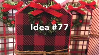 Craft Fair Series 2019-Wooden Christmas Houses-Idea #77 Must see!