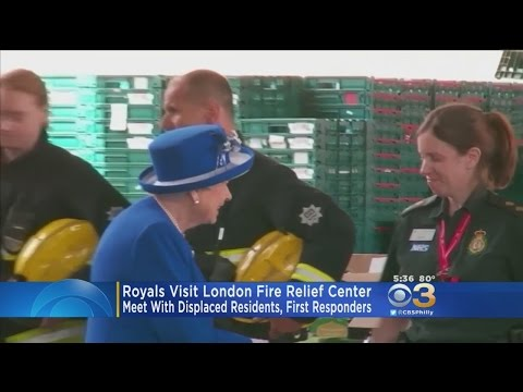 Royals Visit London Fire Relief Center