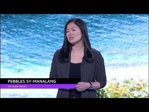 AWS re:Invent 2018: Pebbles Sy-Manalang, CIO of Globe Telecom, Speaks at Global Partner Summit