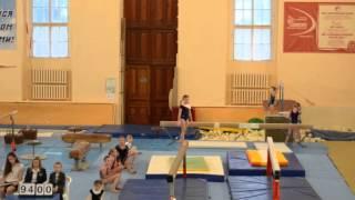 Спортивная гимнастика, бревно 2 разряд.