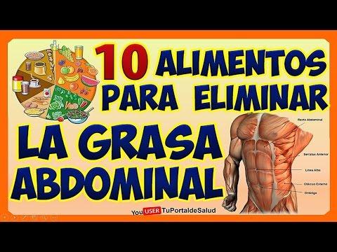 Dieta para bajar la grasa abdomen
