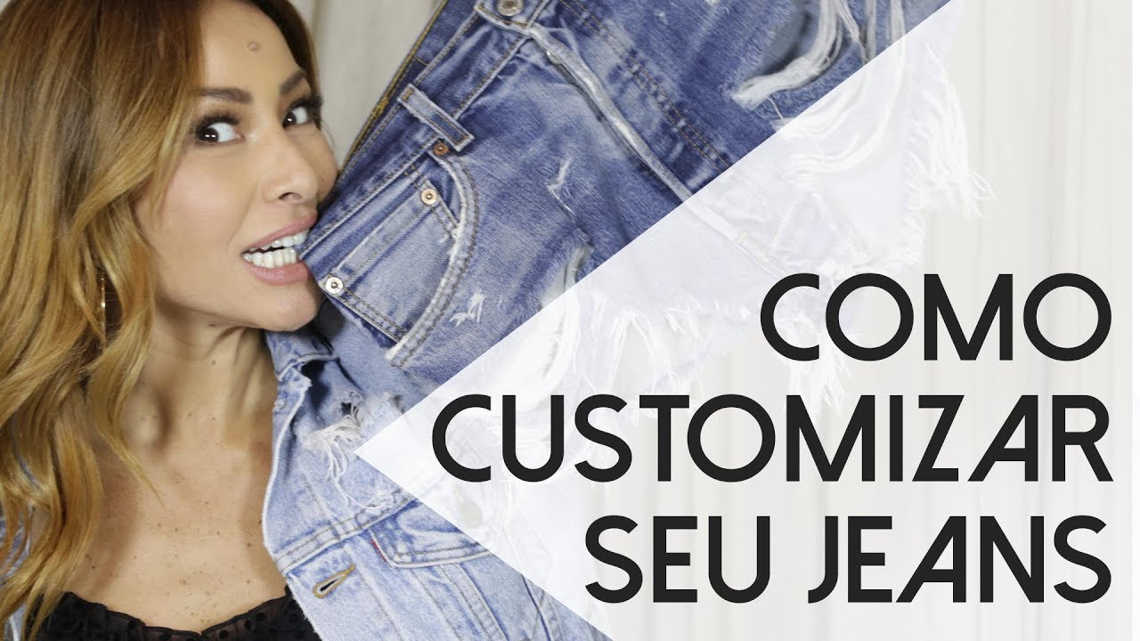 57d65cd9c2511 Customizando jeans com Sabrina Sato - YouTube