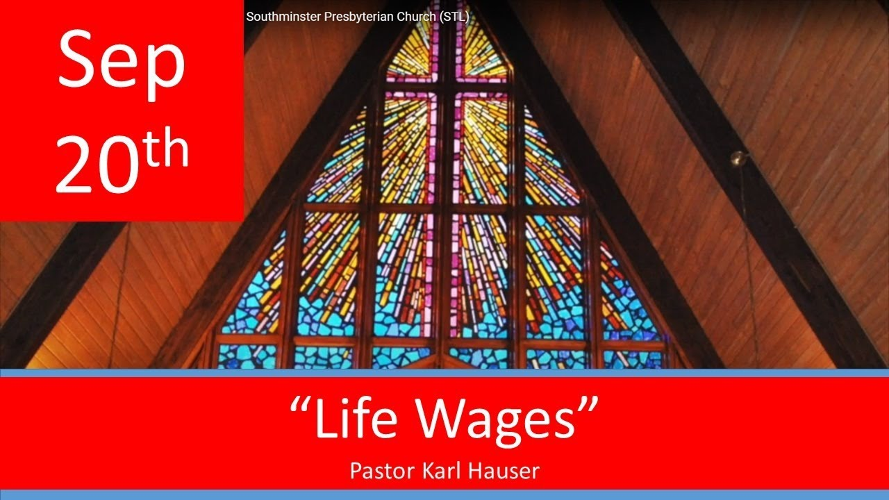 Sept 20 Worship Southminster Presbyterian Church St. Louis Live Stream