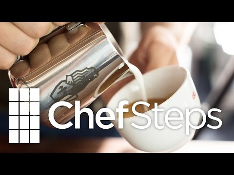 Practicing Latte Art