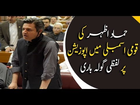 Hammad Azhar criticizes opposition in his speech in NA session