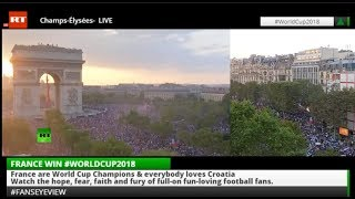 Champs Elysees LIVE as France win World Cup Final 2018 #FansEyeView