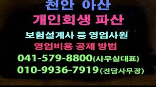 개인회생 파산 천안 아산 변호사 보험설계사 영업사원 영…