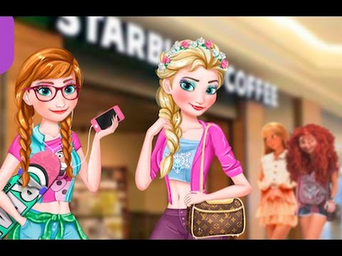 Frozen Games- Modern Frozen Sisters-Dress Makeup Frozen Games for Girls