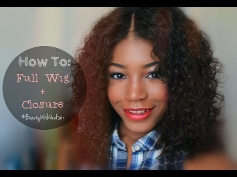 how to full wig closure peruvian curly hair �� youtube