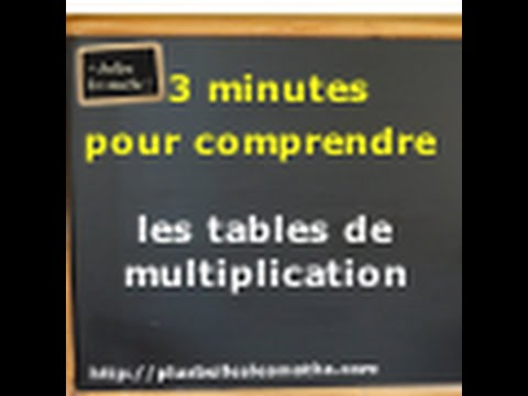 3 minutes pour comprendre les tables de multiplication for Les multiplications