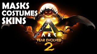 ARK Fear Evolved 2 Masks Costumes Skins: DodoWyvern, Vampire eyes, Clown mask - Wyvern Bone Costume(ARK Fear Evolved 2 - Masks Costumes Skins : DodoWyvern, Vampire eyes, Clown, Werewolf mask and Wyvern, Giganotosaurus, Quetzalcoatlus, Jerboa Bone ..., 2016-10-30T07:10:09.000Z)