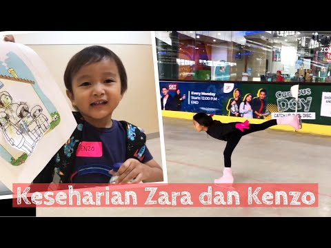Zara Cute Latihan Ice Skating | Keseharian Zara Kenzo Sakura
