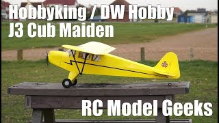 Hobbyking J3 Cub 1800mm DW Hobby Maiden RC Model Geeks