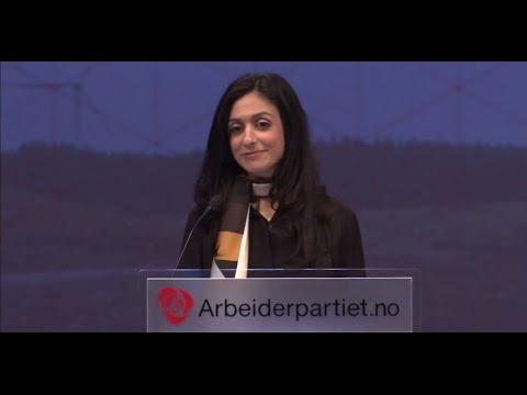 Nestleder Hadia Tajiks takketale - Arbeiderpartiets landsmøte 2015