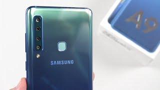 Mở hộp Galaxy A9 có 4 camera sau, RAM 6GB, ROM 128GB Kênh Youtube C...