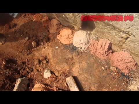 DRILLING A BORE HOLE BY HAND IN AFRICA