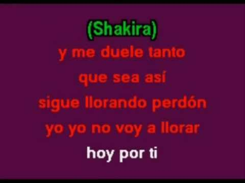 Shakira-La Tortura(Karaoke) Ft.Alejandro Sanz