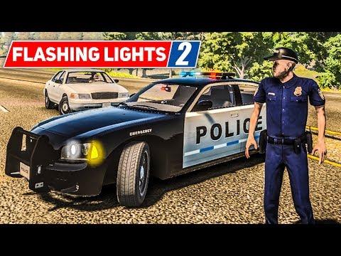 FLASHING LIGHTS #2: Verfolgungsjagd mit der POLIZEI! | Blaulicht Simulation Preview deutsch