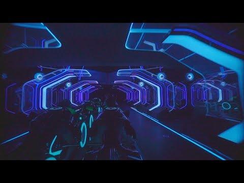 TRON Ride: Shanghai Disneyland 60FPS Amazing Low Light FUll On-Ride POV