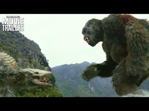 Kong: Skull Island Clip | The King Kong Battles a Gigantic Skull-Crawler