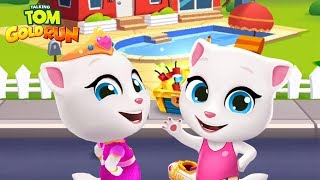Talking Tom Gold Run - Princess Angela vs Talking Angela ipad Gameplay