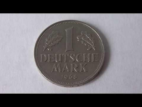 1 Deutsche Mark Germany 1968 D   Amazing Coin