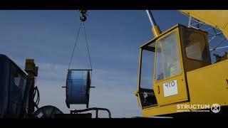 Bosqich dirijyor o'rnatish АС400/51 uzatish liniyasi 750 kV