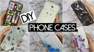 DIY 6 Phone Cases! Urban Outfitters Inspired