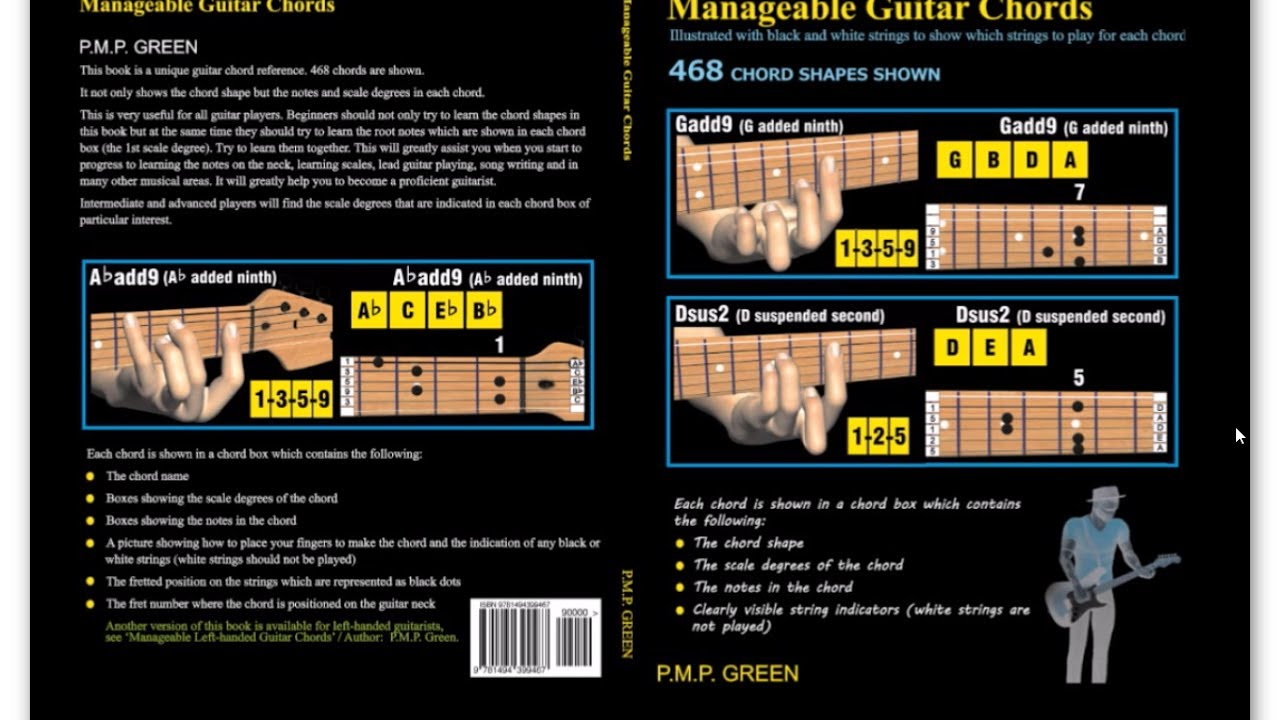 BOOK: Manageable Guitar Chords. - YouTube