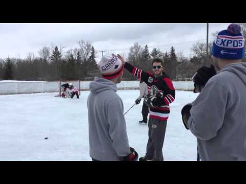 Hockey day in canada in Aylmer Quebec