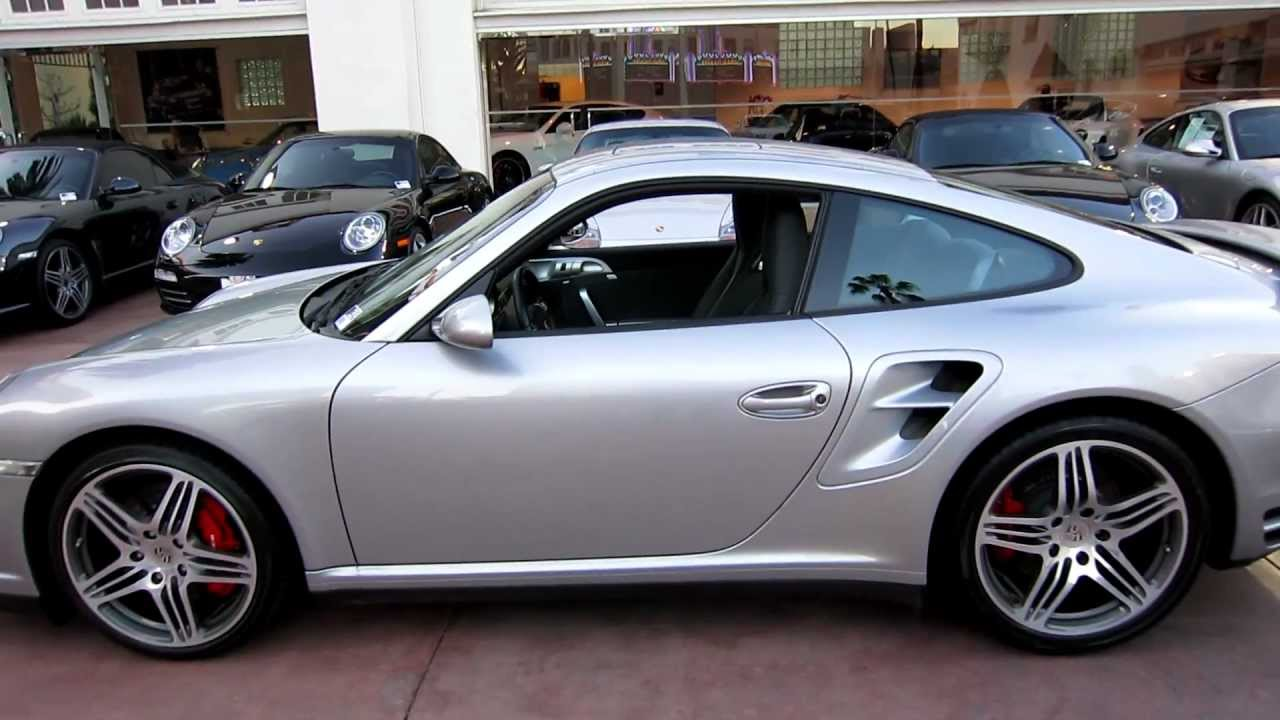 2009 Porsche Turbo Coupe In GT Silver MetallicMOV YouTube