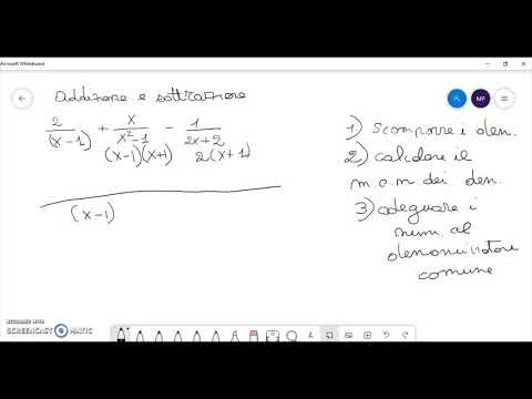 Somma e Sottrazione tra Frazioni Algebriche 1 from YouTube · Duration:  3 minutes 41 seconds