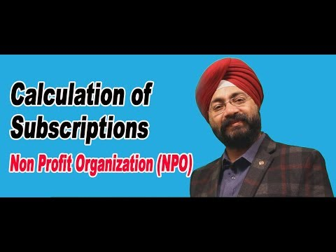 Calculation of Subscriptions– Non Profit Organization (NPO)