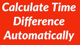 Calculate time difference in hours minutes seconds with VBA