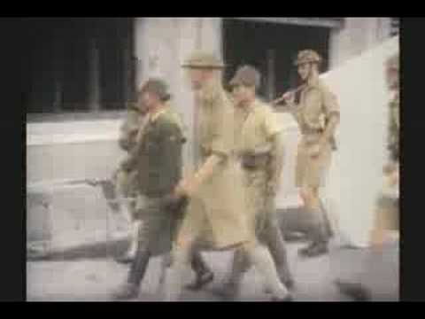 WW II SINGAPORE FALLS  3 of 3 1942 RARE COLOR FILM