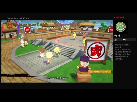 CSQUAD013's Live PS4 Broadcast DB Fighter Z open beta with friends n family