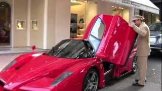 Monaco: Ferrari Enzo Ferrari CRAZY start-up!