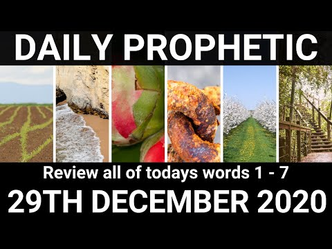 Daily Prophetic 29 December 2020 All Words