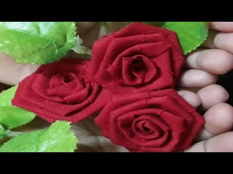 Rose Flowers Making With Waste Clothes Waste Cloth Upcycle No Sew