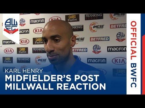 KARL HENRY | Midfielder's post-Millwall reaction
