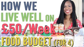 How We Live Well On A £50/Week Food Budget for 4 | Grocery Shopping UK