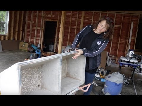 Installing our Vintage Concrete Sink in our New Laundry Room